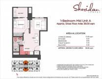 sheridan towers 1 bedroom A