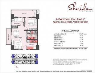 sheridan towers 2 bedroom C