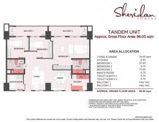 sheridan towers 3 bedroom tandem unit