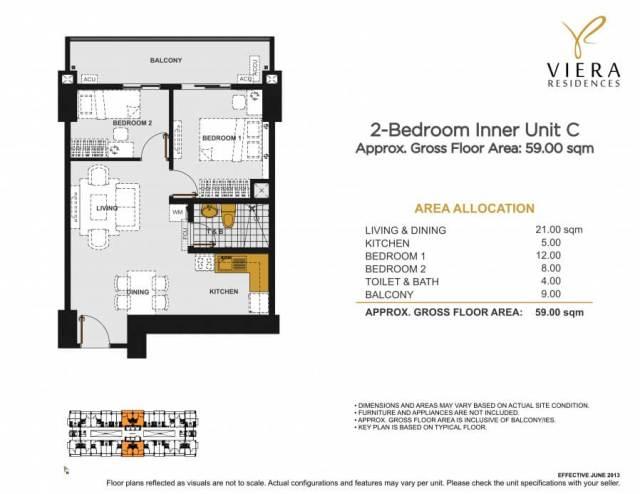 VIERA RESIDENCES 2 bedroom unit C