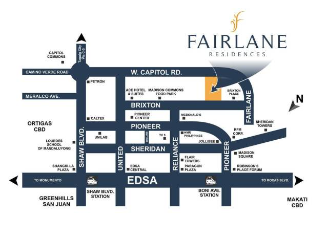 Fairlane Residences Location Map