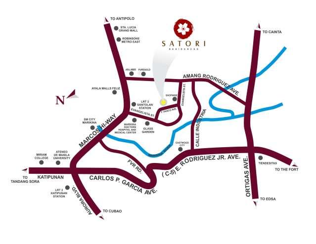 Satori DMCI Location Map in Pasig City, Philippines