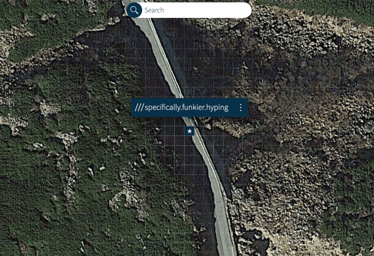screenshot of the gps position among 3m by 3m square on top of mountain