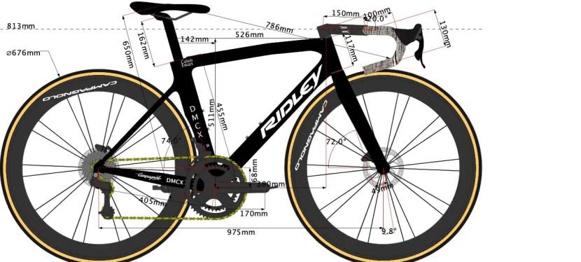 Caleb Ewan's Ridley Noah Fast Disc 2020 Bike Size