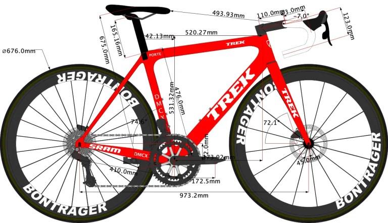 Trek Emonda Disc 2020 size 50 size sketch