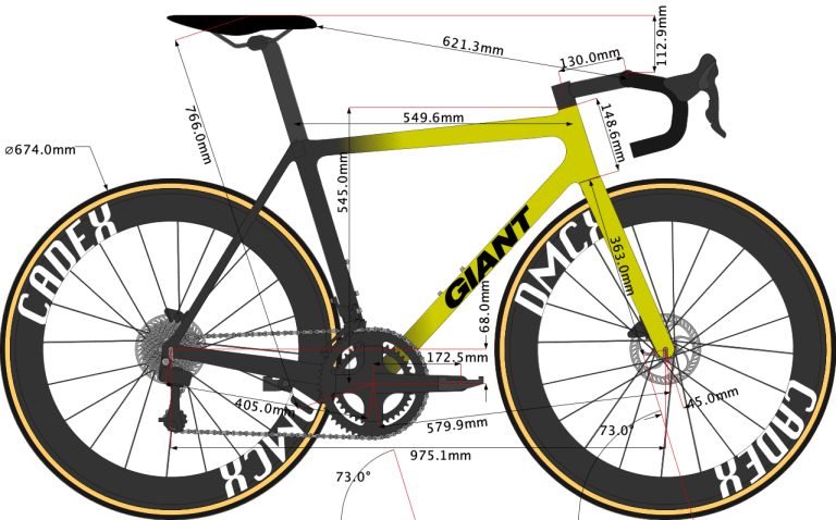 sketch of Greg van Avermaet's Giant TCR Advanced SL road bike