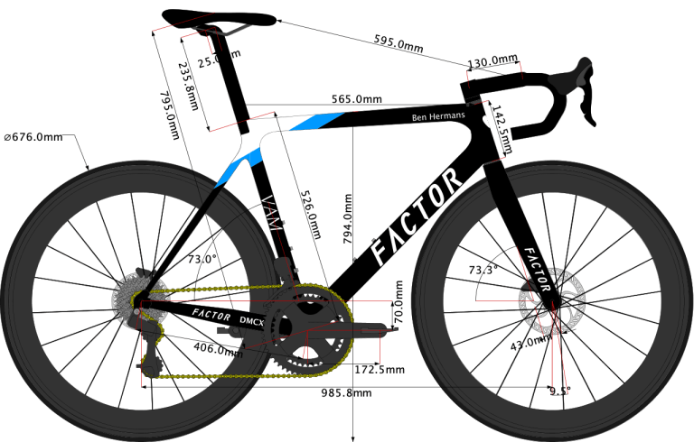 sketch of Factor O2 VAM Disc 2020 size 56cm