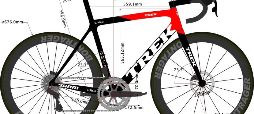 Vincenzo Nibali's 2021 Trek Émonda Bike size