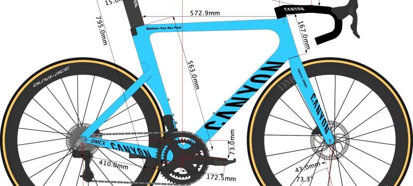 Mathieu Van Der Poel's 2022 Canyon Aeroad CFR Bike Size