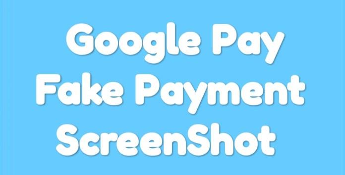 Fake ScreenShot of Google pay