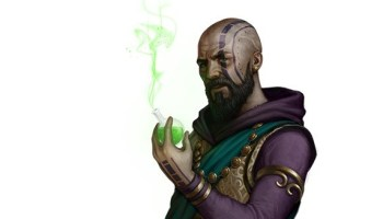 Khrull, Half-Orc Death Cleric | NPC for Dungeons & Dragons