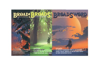 BroadSword 3 Issue Print Subscription at DMDave.com. Featuring 3 softcover books of original 5e content, monsters, maps and more by DMDave