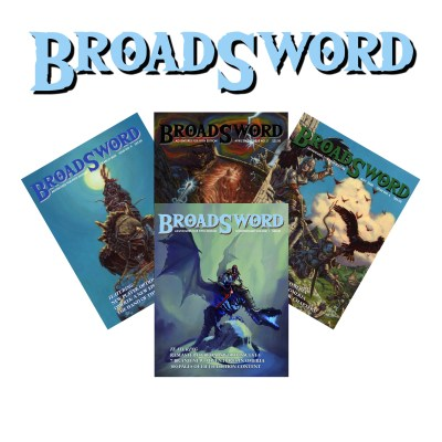 BroadSword Compendium Bundle in print from DMDave features BroadSword Issues 4-6 PLUS the Compendium Vol. 1. Available at dmdave.com
