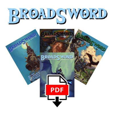 BroadSword Compendium Bundle (PDF) from DMDave features BroadSword Issues 4-6 PLUS the Compendium Vol. 1. Available for instant download at dmdave.com