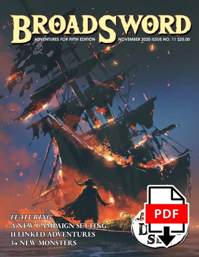BroadSword Monthly Issue #11 PDF available for instant download at dmdave.com