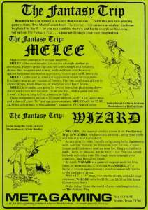 Advertisment for Melee and Wizard
