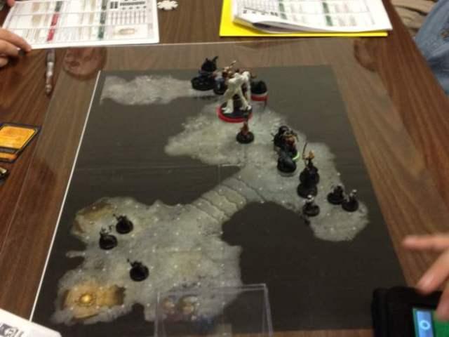 Battle map under plexiglas