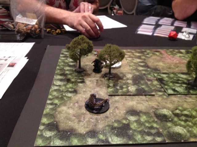 Basilisk encounter on Dungeon Tiles