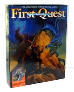 Advanced Dungeons & Dragons First Quest The Introduction to Role-Playing Games
