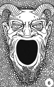 The great green devil face from Tomb of Horrors