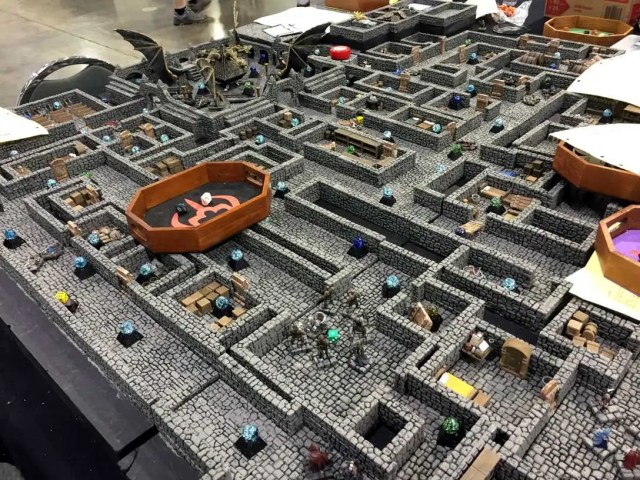 dungeon table at Gen Con 2015