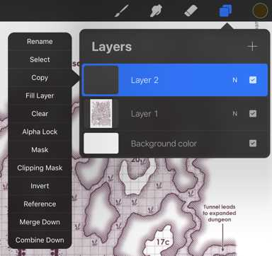 How to Reveal a Dungeon Map on an iPad as Characters Explore