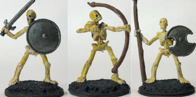 Reaper bones: Skeletons (various, comes unpainted)