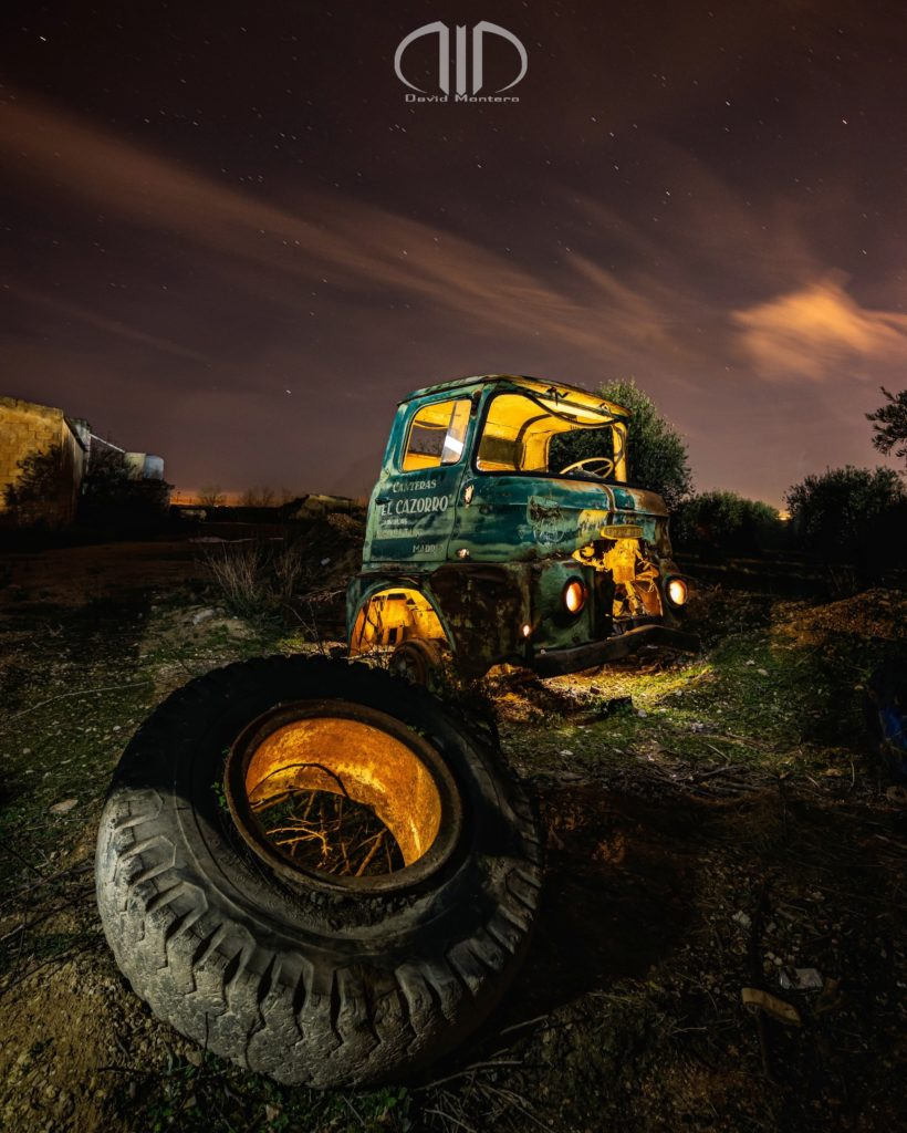 camion chatarra foto nocturna dmd