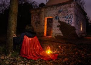 Caperucita Roja light painting nocturna dest