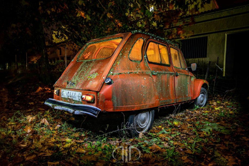 fotografia nocturna coche citroen dmd fotografia