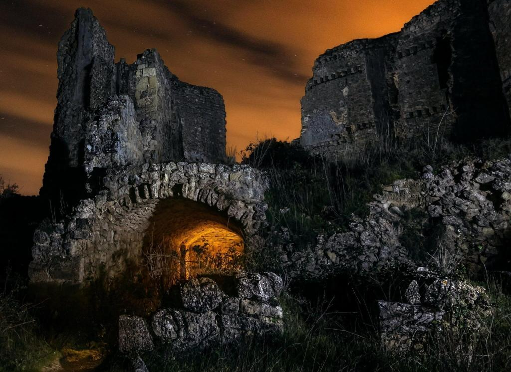 dest Hades inframundo fotografía nocturna castillo
