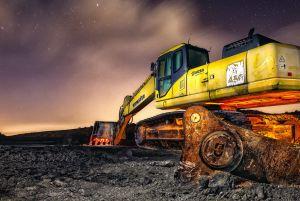 destMoon works - Excavadora nocturna DMD fotografía