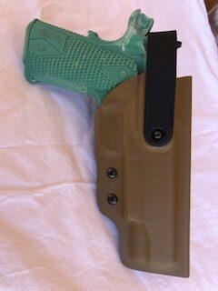 DMESig P365 foxtrot kydex holster ters Standard OWB w/ WRS hood