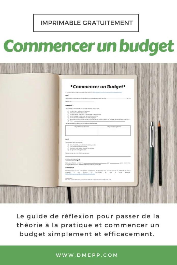commencer un budget pdf