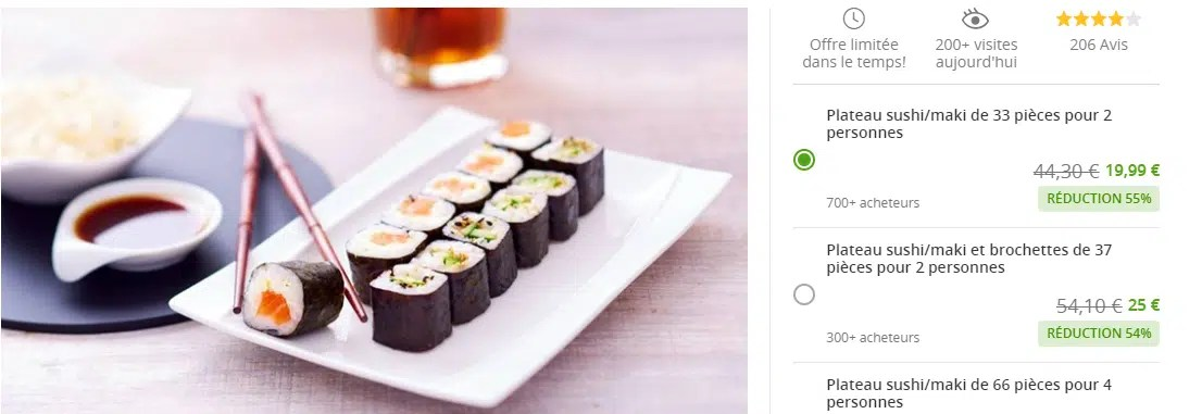 Groupon.fr Oferta Snacking