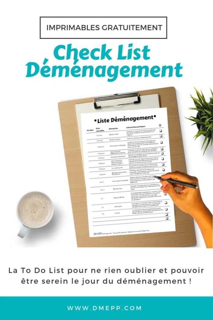 Check List Déménagement pdf
