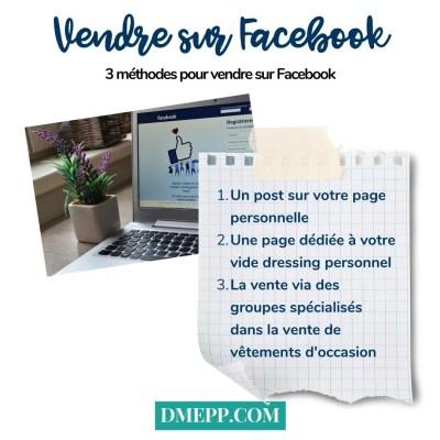vendre ses vêtements d'occasion sur Facebook