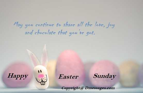 Happy easter card messages
