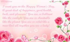 international women's day wishes message