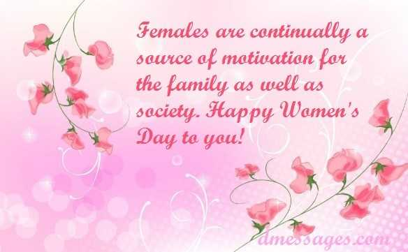 international women's day wishes sms