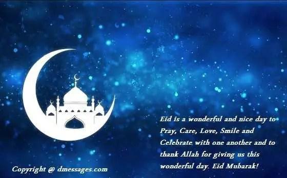 Happy Eid mubarak to wife sms