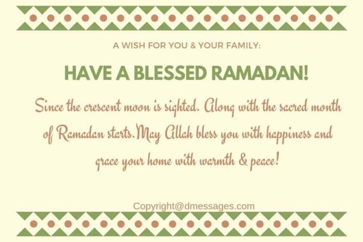 souhaiter bonne fete de ramadan par sms