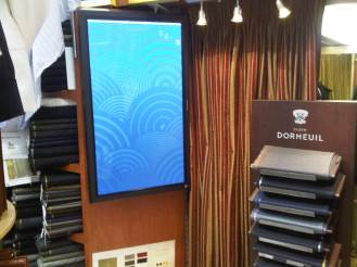 Commercial Digital Signage portrait monitor installation by dmg Martinez Group in Miami