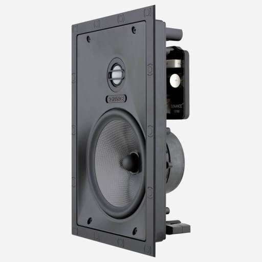 Sonance Visual Performance Medium Rectangle Speaker angle view, in the Miami / Fort Lauderdale area. Available at dmg Martinez Group.