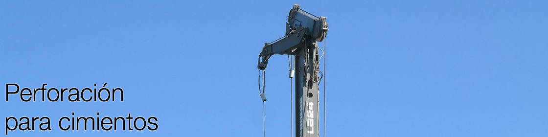 Perforación para Cimientos, pilotes de concreto armado.
