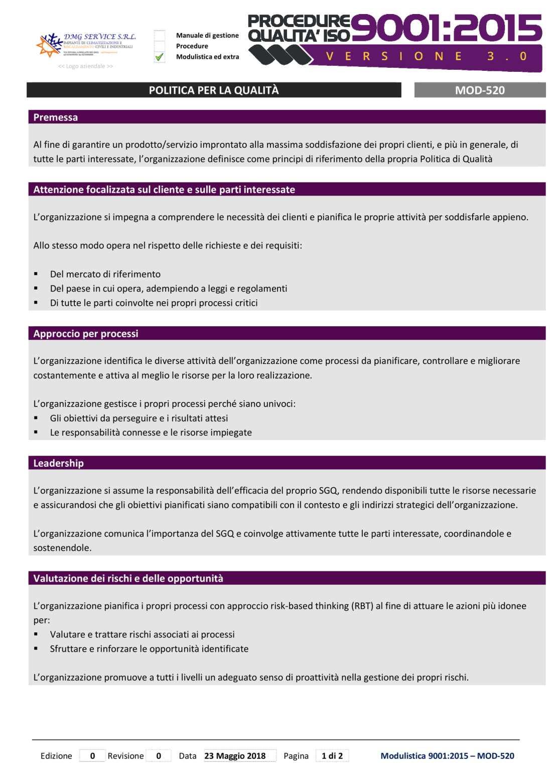 MOD-520-Politica per la qualità-ISO9001-2