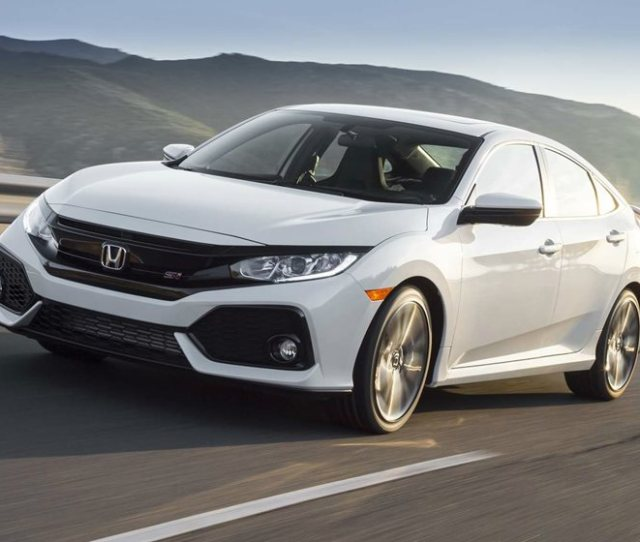 2018 Honda Civic Si Sedan Front Side In Motion