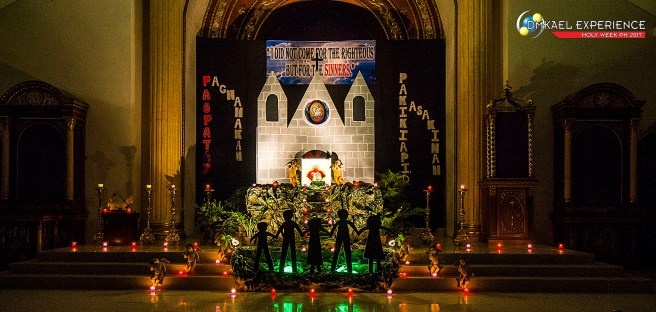 Holy Week Philippines 2017, Our Lady of Fatima Parish Church Altar of Repose