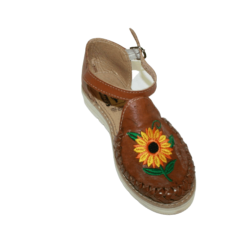 Ladies Flower Embroidery Sandals