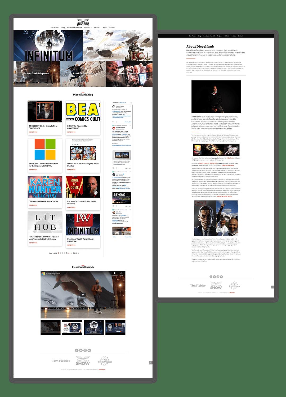 Dieselfunk Studios Website 2021